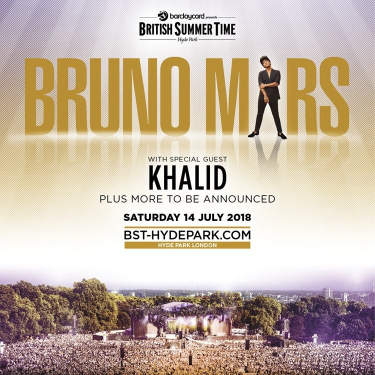 BST - Bruno Mars, Hyde Park 2018