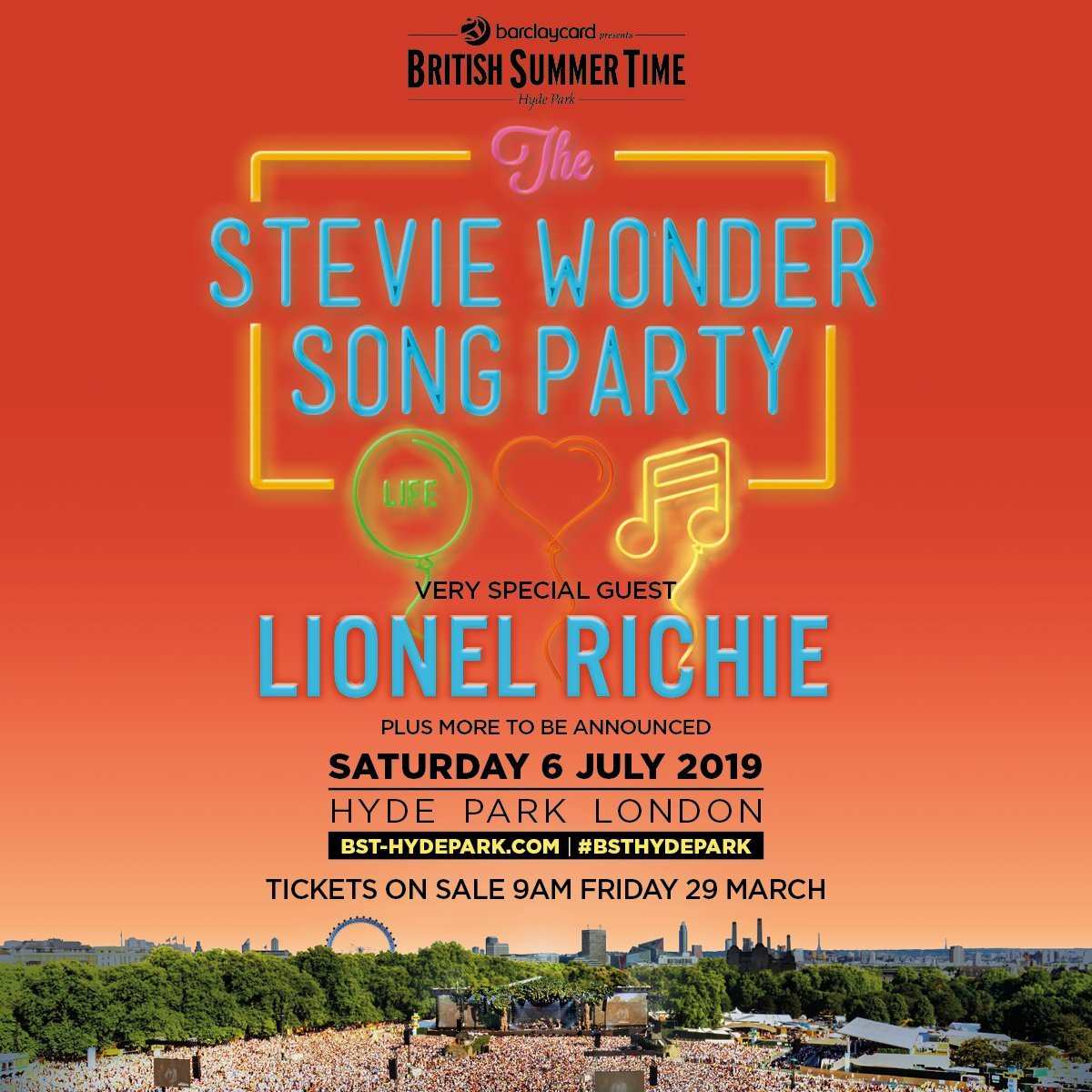 BST - Stevie Wonder Hyde Park 2019