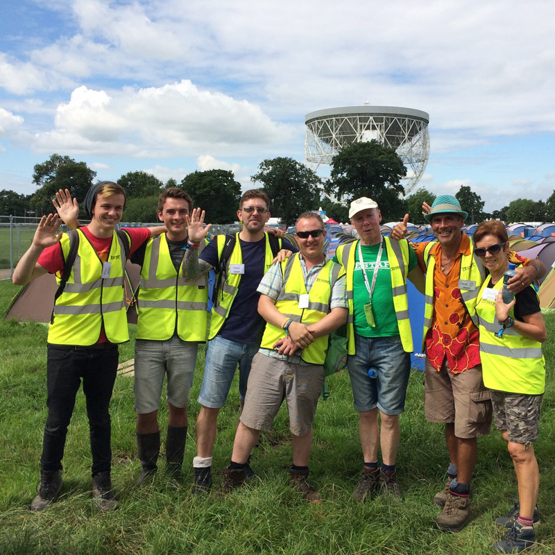 Bluedot 2016 stewards enjoying the science & sunshine!