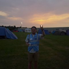 Catching the sunset in the Download Festival 2016 campsites.