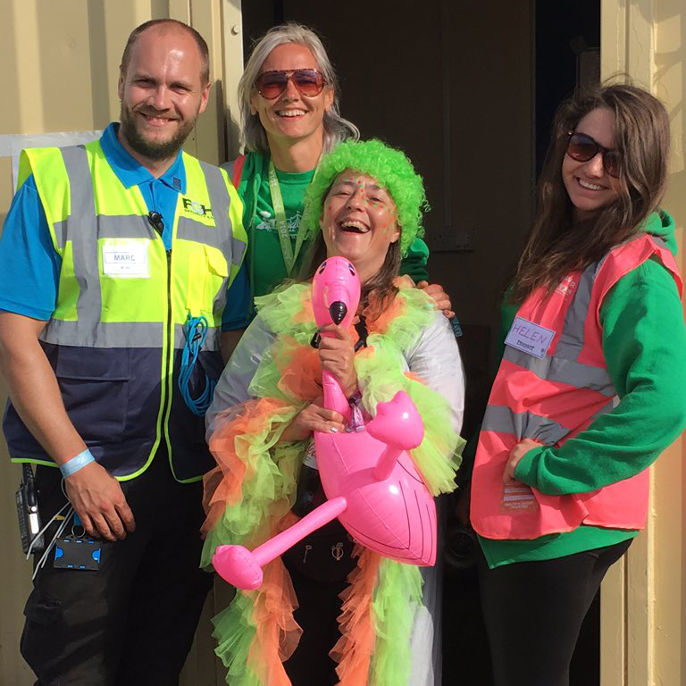 Festaff and FGH Security having a laugh with the Kendal Calling 2016 revellers!