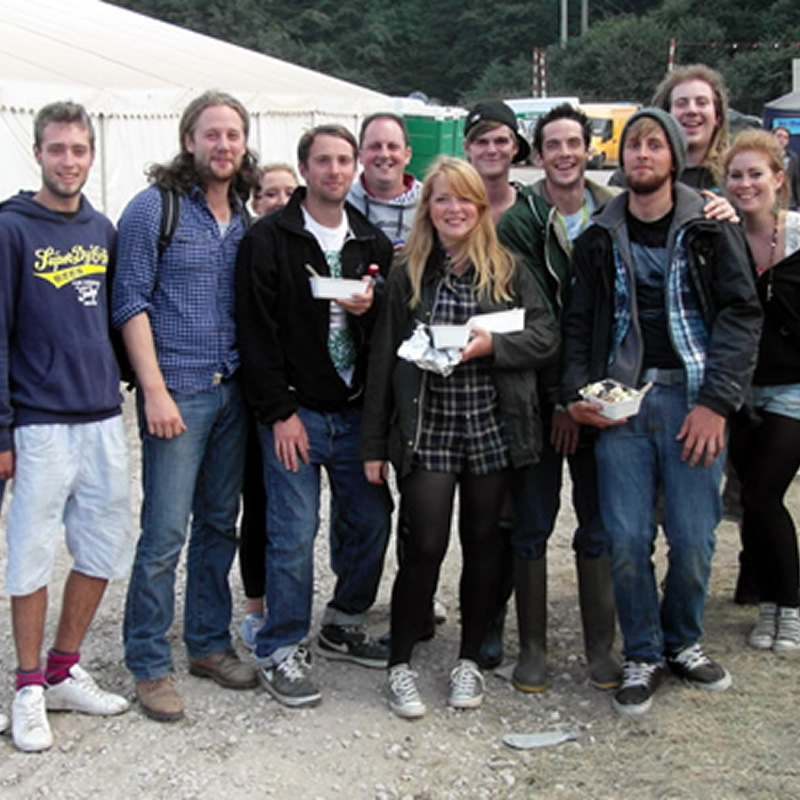 some of the good festaff folk off for a Sunday nights fun at bestival 2012