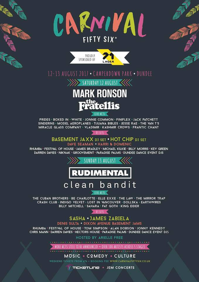 carnival fifty six lineup poster festaff blog page