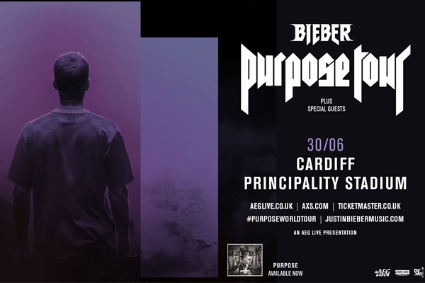 Justin Bieber - Purpose World Tour, Cardiff - June 30th