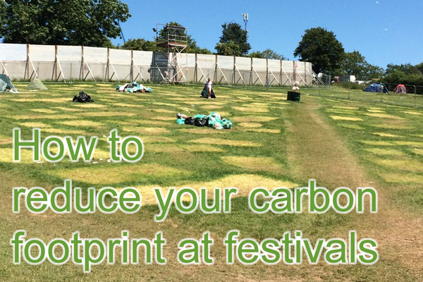 Reduce your carbon footprint at the festival