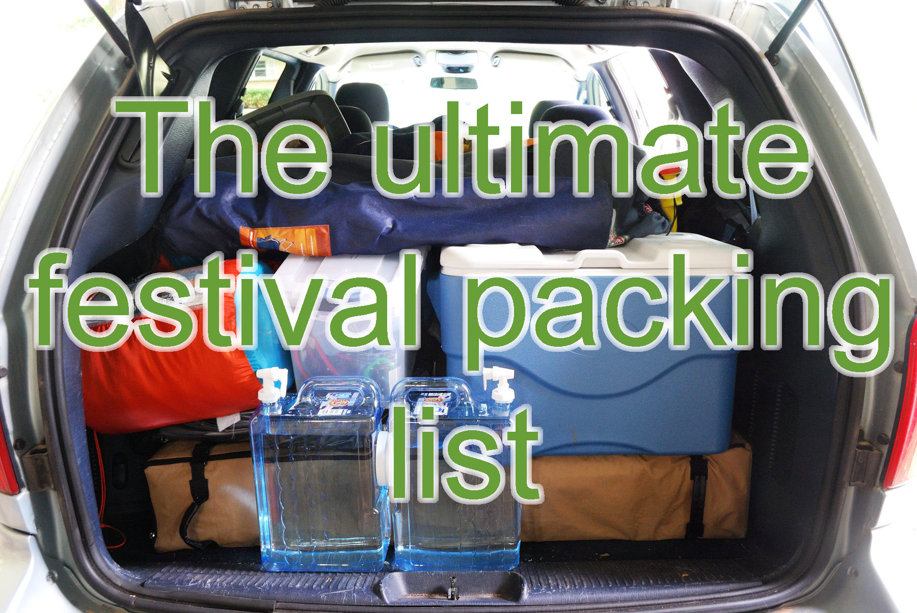 Ultimate festival packing list