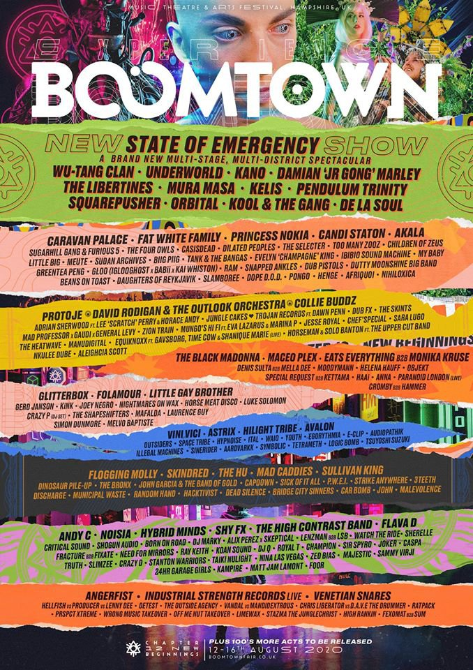Boomtown Fair 2020 Line Up Poster